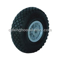 "Rubber wheel,Pneumatic wheel,Hand truck wheel 10""x3.00-4"