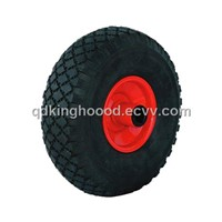 "Rubber wheel pneumatic wheel, Hand truck wheel 10""x3.00-4"