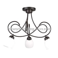 SCH-3023-Black Metal Stand Cup Shape Glass Kitchen Pendant Lighting China