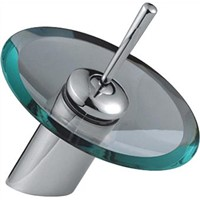Single lever waterfall glass Basin faucet DH002