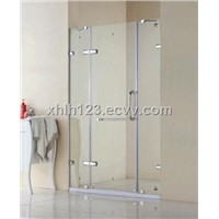 Square clip shower screens, 8mm safety glass shower doors, Vertical-hinged doors