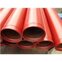 Steel pipe for fire protection