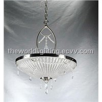 TD-10142-Chrome Metal Stand Decorative Crystal Kitchen Pendant Lamp