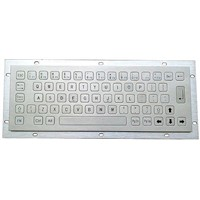 Vandal Proof Stainless Steel Industrial Metal Keyboard (X-NN64B)