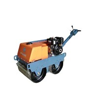 Walk behind double drums mini road roller