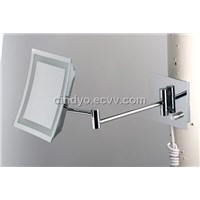 Wall-mounted single side LED makeup mirror