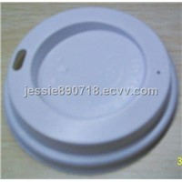 White disposable cup cover