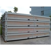 foldable container house, Demountable container house, sandwich panel container