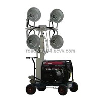 hand push mobile portable light tower