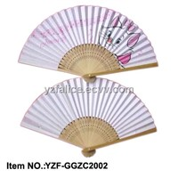 Japanese Style Double Sides Paper Fan