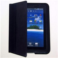 matting case for Samsung P1000, P1010, 7 inches tablet PC, black microfiber workmanship,
