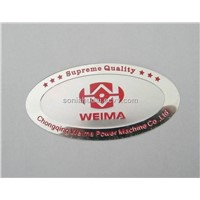 metal furniture label, metal label adheesive label