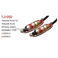 optical digital cables PVC sheath and gold plated connector