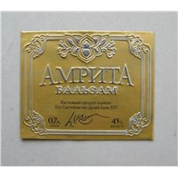 perfume bottle label, aluminum embossed label, metal sticker