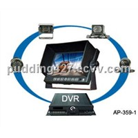 School Bus Mobile Car DVR with Monitor