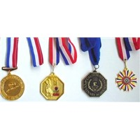 sports champions metal medals with lanyard