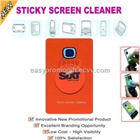 sticky cell phone screen cleaner,adhesive microfiber screen cleaner