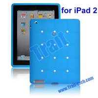 views: Flexible Soft Silicone Sofa Back Case Cover for iPad 2(Blue)
