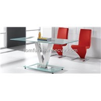 white tempered glass table HA212#HB209