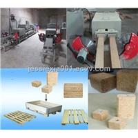 wood pallet feet block machine