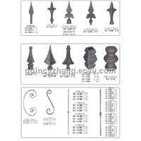 wrought iron foeged bars.spear pionts
