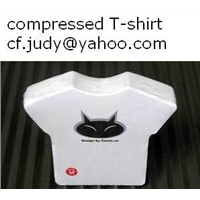 100% Cotton Compressed T-shirt Promotion Ads Holiday Gift OEM