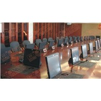 LCD monitor motorized mounted for meeting tables equipment