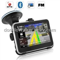 Brand New 4.3 Inch Screen GPS Navigator with Bluetooth FM Transmitter Functions + 4GB Card with Map