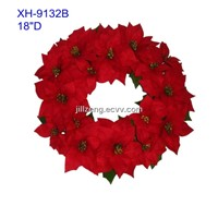 "18""D red Christmas flower wreaath"
