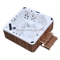 5 or 6 person Outdoor Hot tub Fiberglass Spa pool with cover