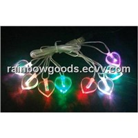 Heart shaped LED USB string lights, LED Flashing Gifts,LED Christmas Light Chains