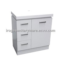 White Vanity With Square Handles (IS-2033)