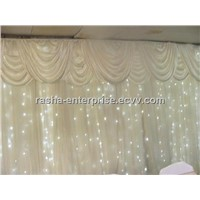 White Wedding LED Decoration LED Curtain,LED Starcloth