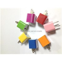 10 Color available USB Power Adapter Wall Charger for iPhone4 4S iPod Touch Nano US Plug