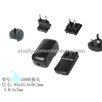 12v 100MA multi plug-in switching power adapter