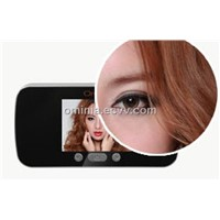 140 view angle digital peephole with auto detection and infrared night vision