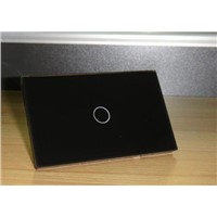 1 gang wall touch switch Diamond Black