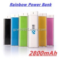 7 Colors Lipstick 2800mAh Portable USB Power Bank for iPhone, iPad, HTC, BlackBerry...