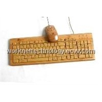 2 Keypad Bamboo Keyboard and Mouse with 109 Keys