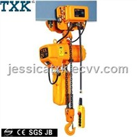 2ton electric chain hoist with trolley