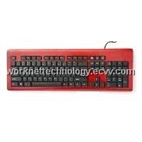 3 Keypads Bamboo Keyboard & Mouse with 104 Keys (Red and Black)