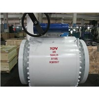 3 PC forged Body Trunnion Mounted ball valve