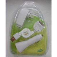 3 in 1 Travel Charger for iPhone , iPad , iPod