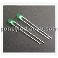 3mm diffused green led light