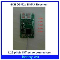 410JST Microlite 4-Channel DSM2 Receiver 1.25Pitch JST servo connectors