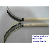45# carbon steel saw sickle with wooden handle