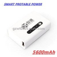 5600mAh Portable Travel Battery Charger, USB Port