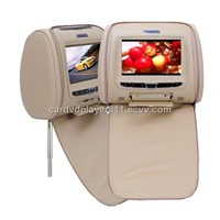 7 Inch Headrest Monitor DVD Player + Gaming System (Black Pair)