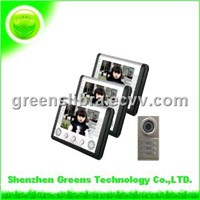 7 Inch LCD Wired Video Door Phone for 3 Familes (GVDP802B3)