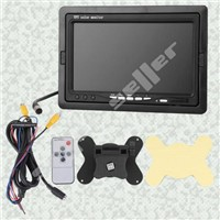 "7"" TFT LCD Car Rear View Color Camera VCR DVD LCD Monitor"